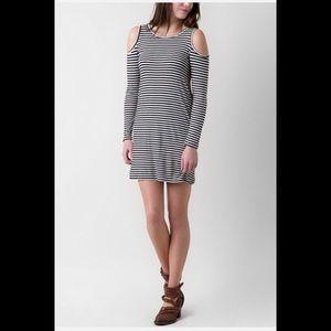 Buckle-Fire, Cold Shoulder Dress